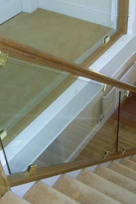 after bespoke glass staircase