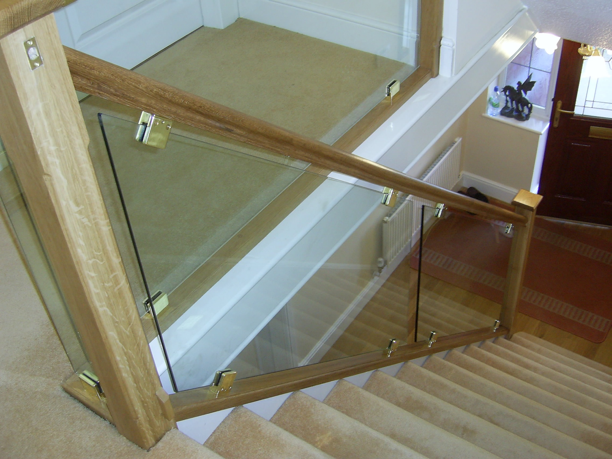 you can have the whole staircase made from specially manufactured toughened safety glass or you can brighten up the stairs with clear bespoke glass staircase